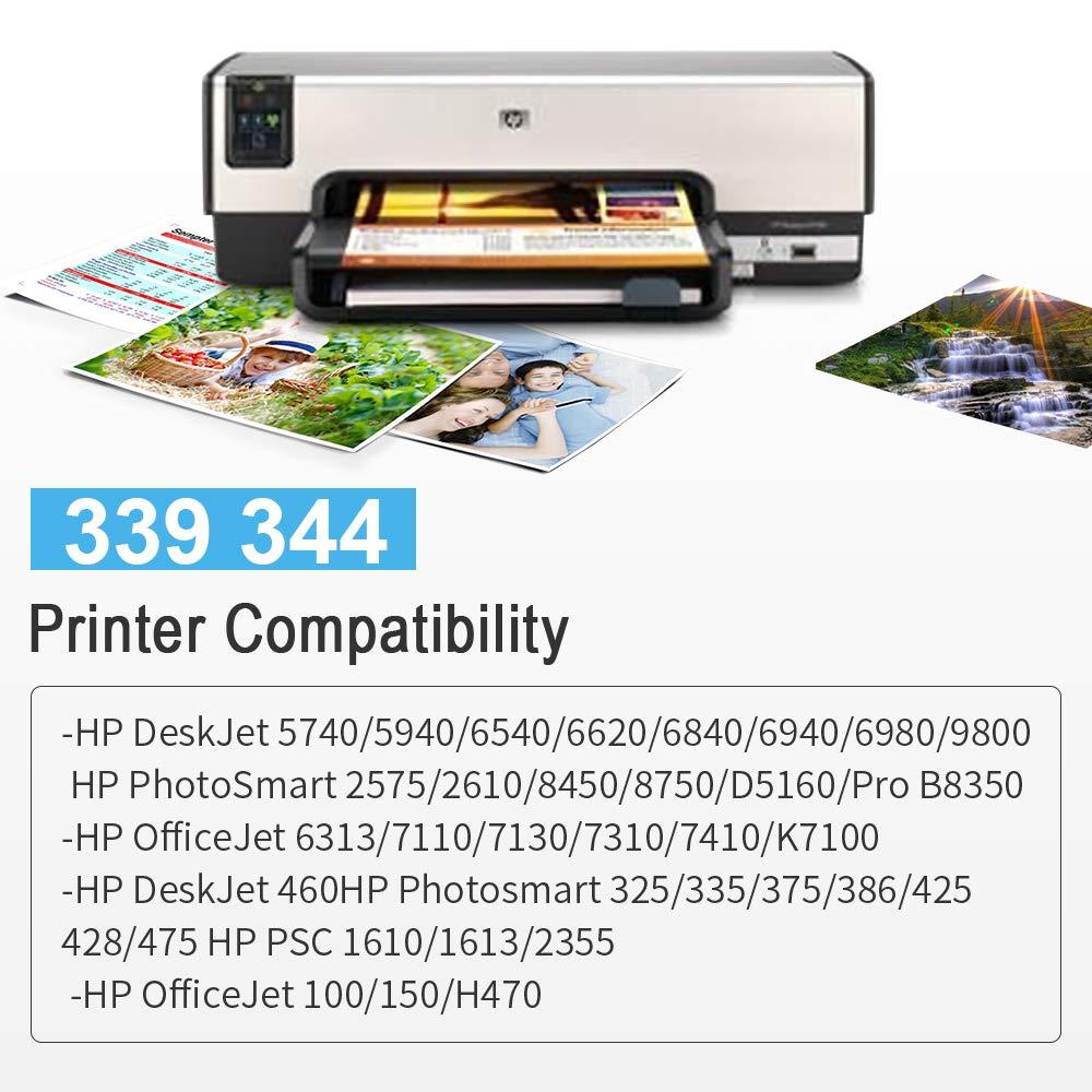 Gmoher Remanufacturado Cartucho de Tinta para HP 339 344 Cartucho ...
