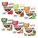 Wild Zora - 6 Flavor Meat and Veggie Bars Paleo, Whole30 Variety Pack with NEW Apple Pork and Taco Pork Bars, (Pack of 12)