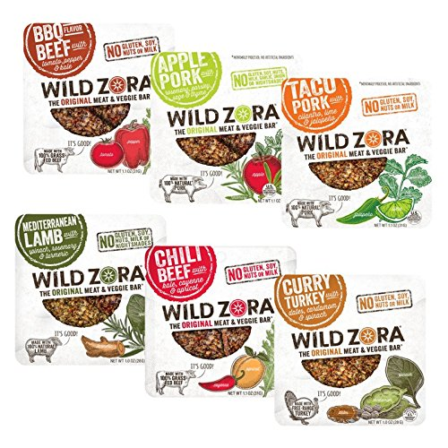 Lamb Apples (Paleo Snack Pack - 6 Flavor - Meat and Veggie Bar (12-pack) Includes 2 each, of 6 flavors.)