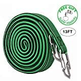 Elasticated Luggage Rope, Universal Heavy Duty Elastic Bicycle Rack Strap Bungee Cord with Carbon Steel Hook, 2 & 4 Meter Lengths (4 Colors)