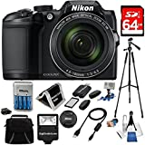 New Nikon COOLPIX B500 16MP 40x Optical Zoom Digital Camera USA in white box promo packaging (Non-Retail) 64GB Bundle includes Camera, Flash, Bag, Card Reader,Wallet, AA Batt+Charger, 50 Tripod+MORE!