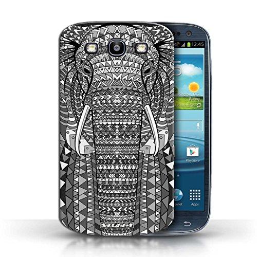 Hülle Case für Samsung Galaxy S3/SIII / Elefant-Mono Entwurf / Aztec Tier Muster Collection