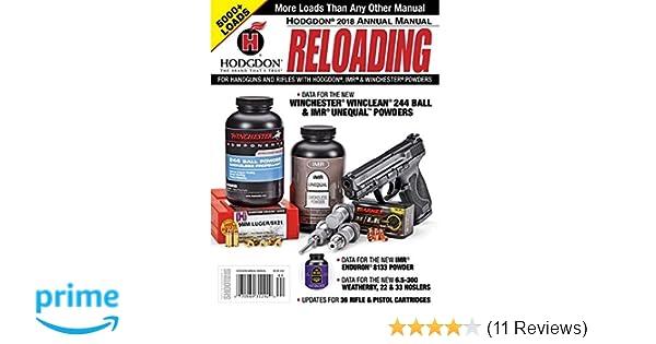 amazon com hodgdon powder annual reloading manual sports outdoors rh amazon com hodgdon reloading manual 2016 hodgdon reloading manual 2016