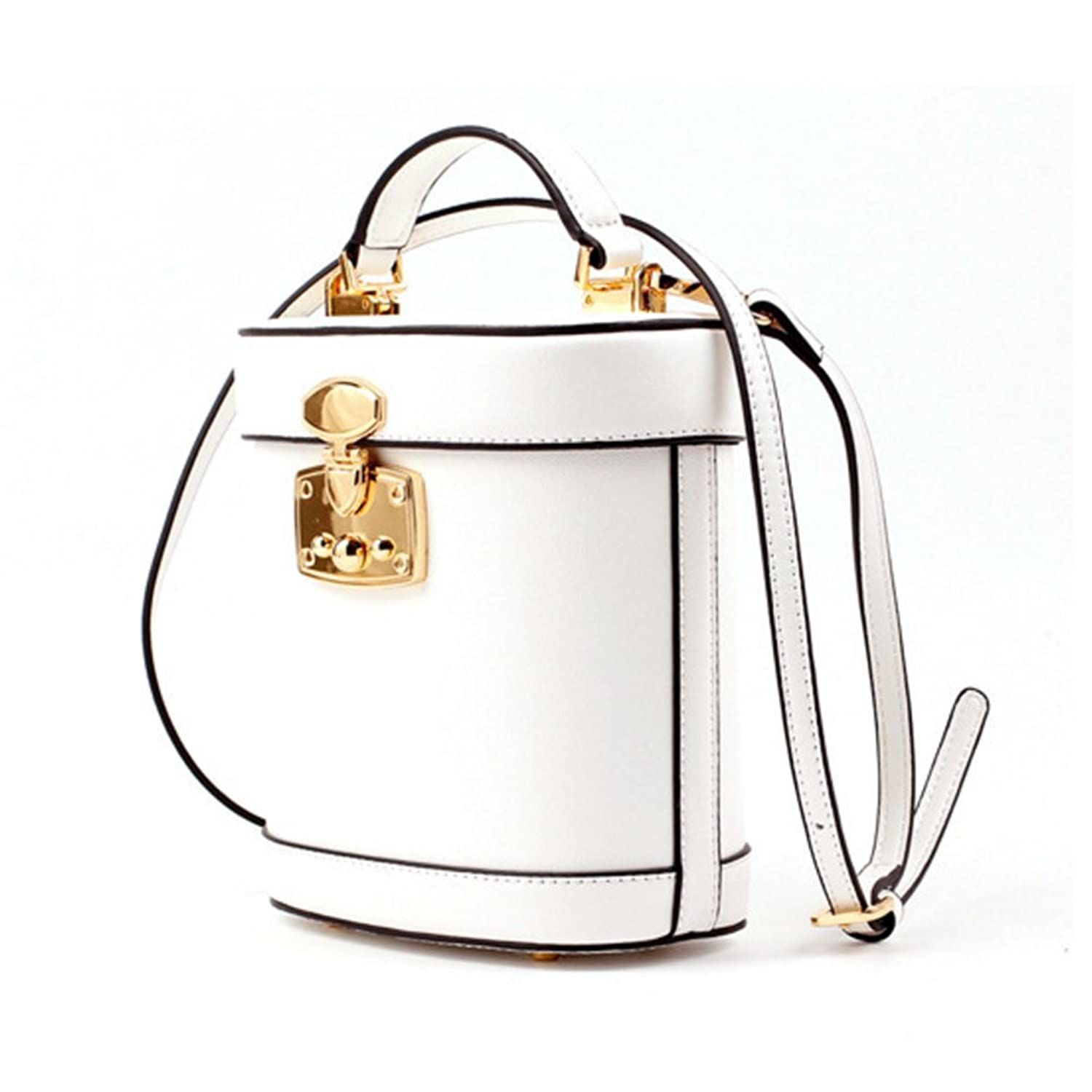 Actlure Women Luxury Vintage Genuine Leather Shoulder Crossbody Box Bucket Cases Bag