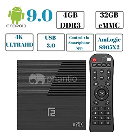 Android 9 0 PHANTIO A95X F2 4K Smart TV Box : 4GB DDR3, 32GB ROM, 2 4G  WiFi, USB 3 0, HDMI 2 1,BT 4 2, G31 GPU, Smartphone App & Voice Remote  Control