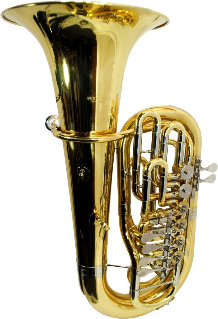 Schiller American Heritage 6-Valve Rotary F Tuba - Yellow Brass & Nickel