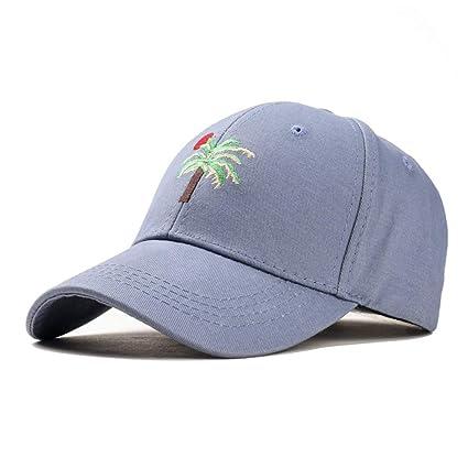 HHF Caps y Sombreos Gorra de Primavera y Verano Gorras de Estilo Europeo y Americano para Hombres y Mujeres Parejas Retro Viaje a Corea Coconut Tree ...