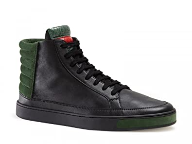 8490ca6de1f Gucci Leather Suede and Ayers Snake High-Top Sneakers (Mens  8.0 UK ...