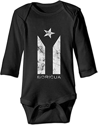 Puerto Rico Boricua Flag Resiste Newborn Kids Long Sleeve Romper Jumpsuit Toddler Jumpsuit