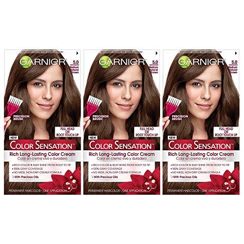 Amazon.com: Garnier Color Sensation Hair Color Cream, 5.0 Chocolate ...