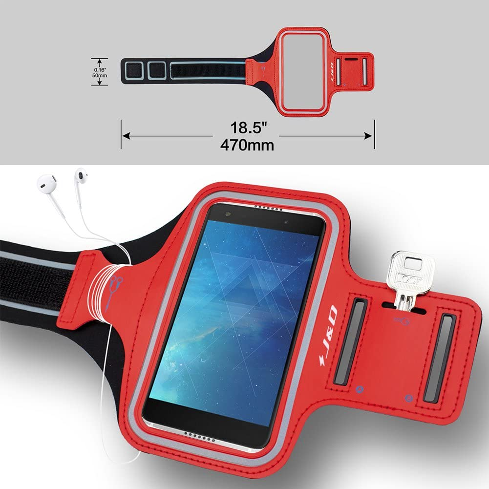 Perfect Earphone Connection while Workout Running J/&D Armband Compatible for Idol 5S Armband Sports Armband with Key holder Slot for Alcatel Idol 5S Running Armband Blue