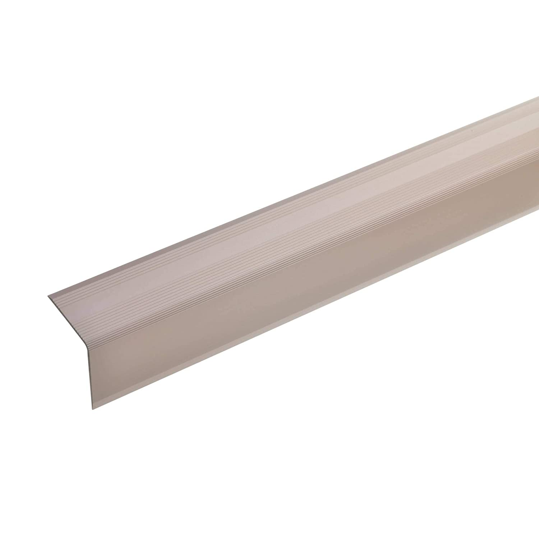 32x30mm gold * Rutschhemmend * Robust * Leichte Montage Treppenkanten-Profil Treppenstufen-Profil aus Alu 135cm Selbstklebendes TreppenProfil acerto 51113 Aluminium Treppenwinkel-Profil