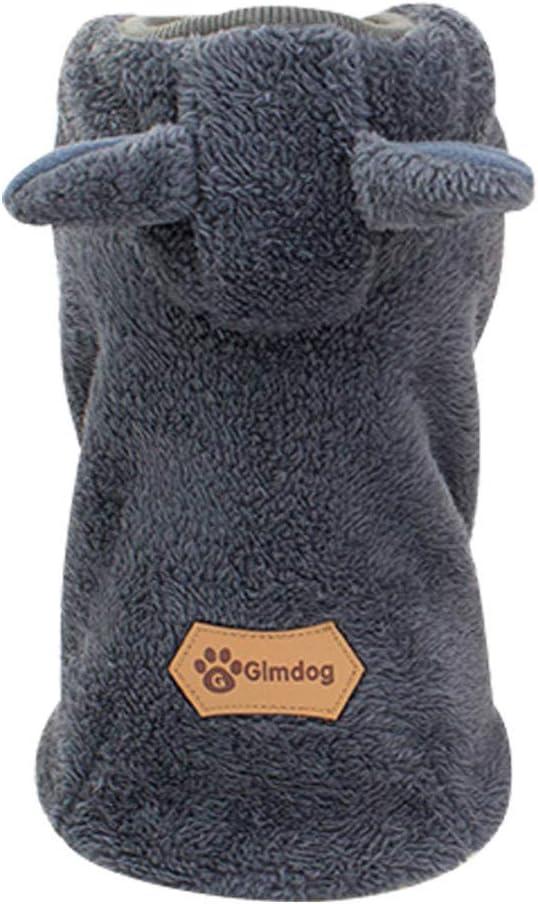 Fahooj hundebekleidung I Pl/üsch mit Kapuze Welpenmantel Stricken Hund Hoodie Pullover Haustier Welpen Mantel kleine Haustier Wintermantel