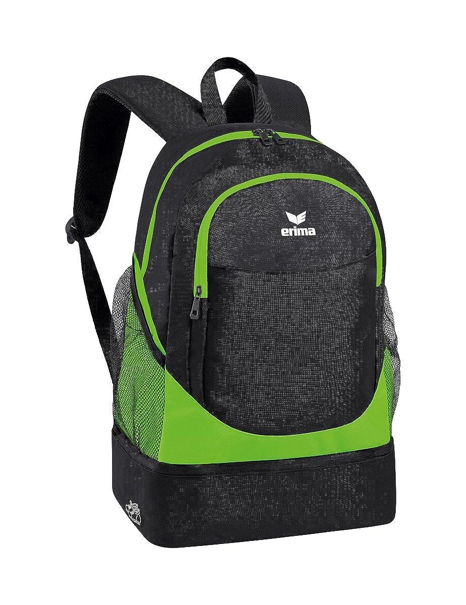 ボトムポケット付きErimaバックパックカジュアルデイパック、45 cm、31.7リットル、グリーン(Green Gecko/ブラック)   B01N7X408T