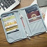 WINNER Travel Passport Wallet Credit Debit Card Holder A722 (Large Grey)