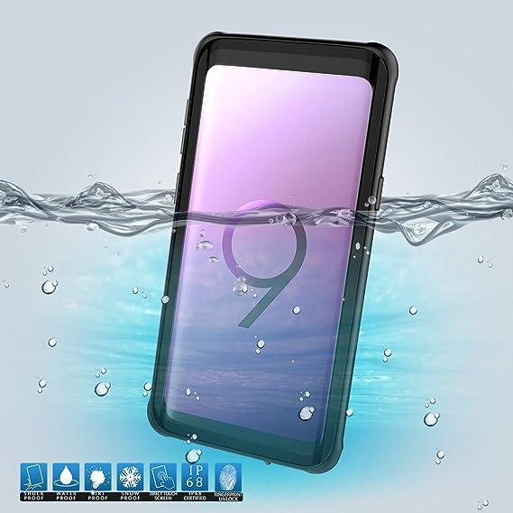 newest c5b4b 1fe84 Amazon.com: Scheam Samsung Galaxy S9 Waterproof Case Dust-Resistant ...