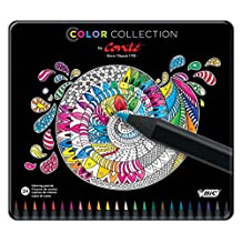 BIC Conté color collection adult coloring pencils assorted box of 24