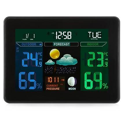 NEWBEN TS-71 Estación meteorológica inalámbrica y 2 sensores inalámbricos para temperatura interior/exterior