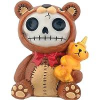 Brown Honeybear with Honey Bear Bottle Furry Bones Statue