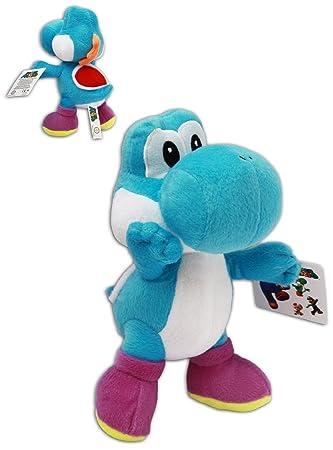 Super Mario Brothers 22 cm Figura de peluche Yoshi Azul de peluche