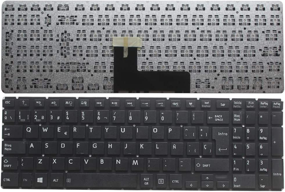 New Laptop Replacement Keyboard for Toshiba Satellite P55W-B P55W-C P55W-C5200 P55W-B5318 P55W-C5200X P55W-B5112 P55W-B5220 P55W-C5316 P50W-B P50-C (Spanish Version)