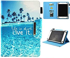 JZCreater 9.5-10.5 inch Tablet Universal Case, Synthetic Leather Case Cover for Apple iPad Air,New iPad 5th/6th Gen, Samsung Galaxy Tab A 10.1/Tab E 9.6 and More 9.5-10.5inch Tablet, Sea Island