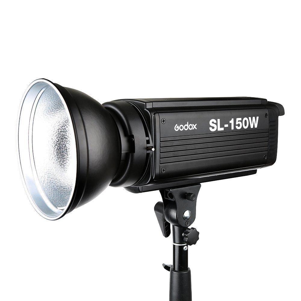 Godox SL150W 150Watt 5600KスタジオLEDビデオライト連続リモートコントロール付きランプ   B078MKKJX1