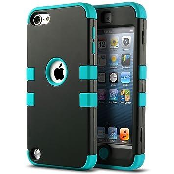 iPod 5 6 Carcasa, ULAK® iPod Touch 5 6 Funda Case híbrida de 3 capas de silicona Antigolpes con Tapa para Apple iPod Touch 5 5Ş generación ...