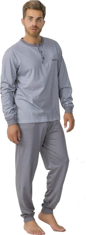 Made in Italy Art GARY Pigiama Lungo da Uomo in 100/% Cotone Leggero Estivo 660028 Serafino