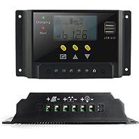 Sheny 30A Solarregler LCD Solar Laderegler 12V / 24V 360W/720W PWM LCD Display mit Dual USB