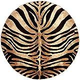 "Home Dynamix Tribeca Fawn Area Rug | Modern Living Room Rug | Contemporary Zebra Design | Rich Living Room Colors | Black, Ivory 7'10"" Round Review"