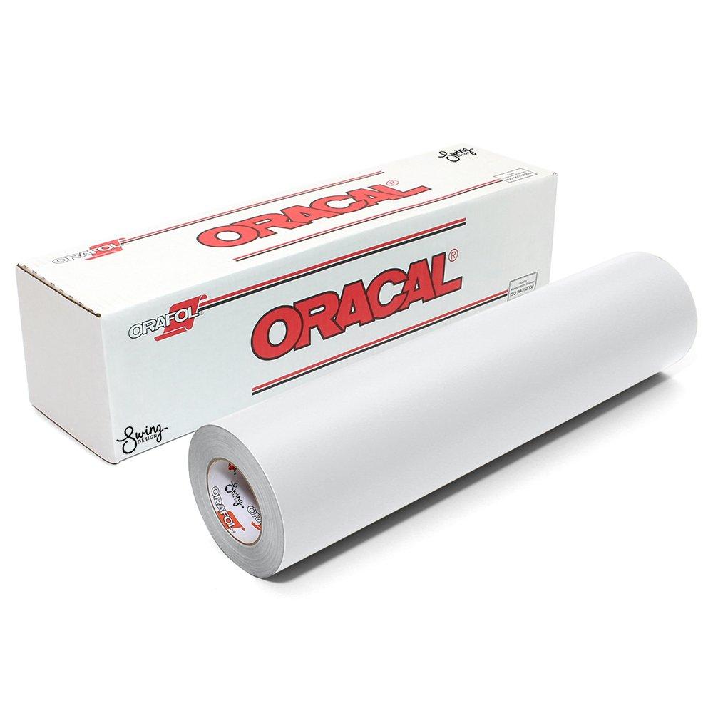 Oracal 651 Matte Permanent Vinyl 12 Inch x 6 Feet - White 05618000833