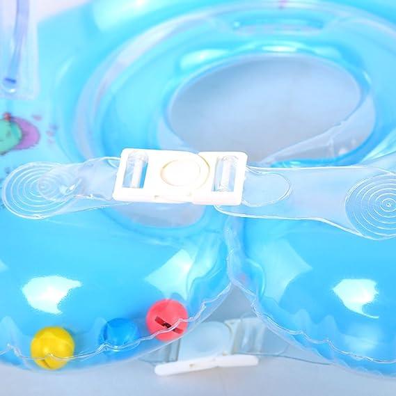 Muxuan Flotador Cuello Bebe - Ajustable Inflable Doble Airbag Flotador Cuello para 1-18 Meses Bebé: Amazon.es: Deportes y aire libre