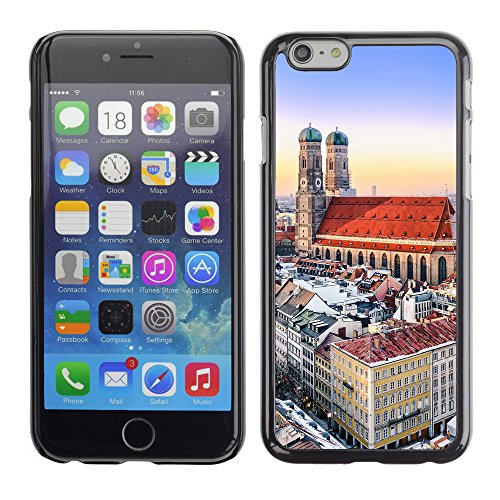 "Hülle Case Schutzhülle Cover Premium Case // V00002636 Panoramablick München von Zentrum // Apple iPhone 6 6S 6G 4.7"""