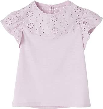 VERTBAUDET - Camiseta para niña, con mangas fruncidas