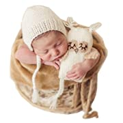 Fashion Newborn Boys Girls Baby Outfits Knitted Photography Props Fox Hat Owl