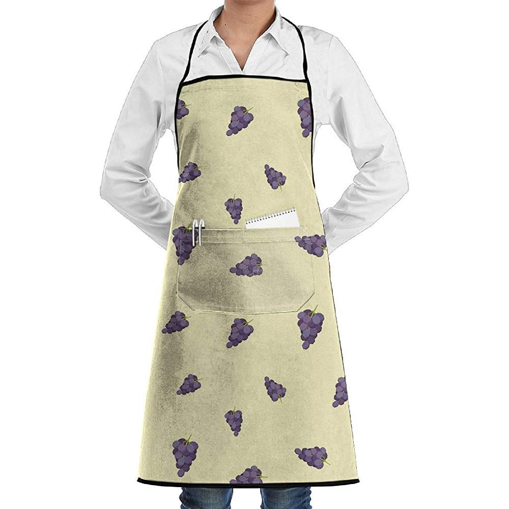 Eliuji Kitchen Chef Delantal con Peto Imagen de UVA Cuello Cintura ...