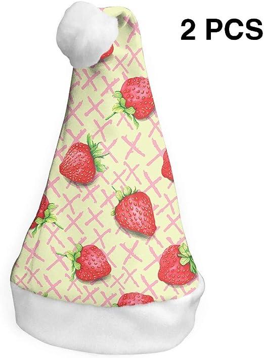 Papá Noel sombrero de fresa besos feliz Navidad sombreros adultos ...