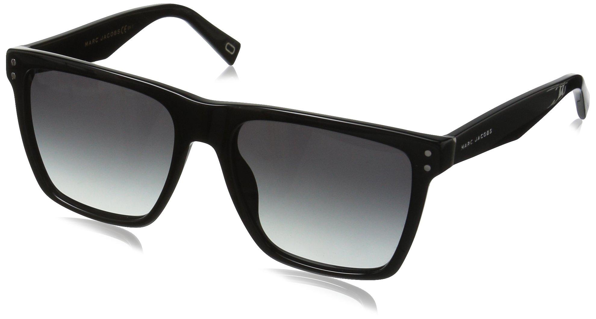 Marc Jacobs Women's Marc119s Square Sunglasses, Black/Dark Gray Gradient, 54 mm