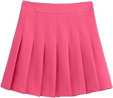 Heheja Faldas De Tenis Plisada para Mujer Cintura Alta Mini Falda ...