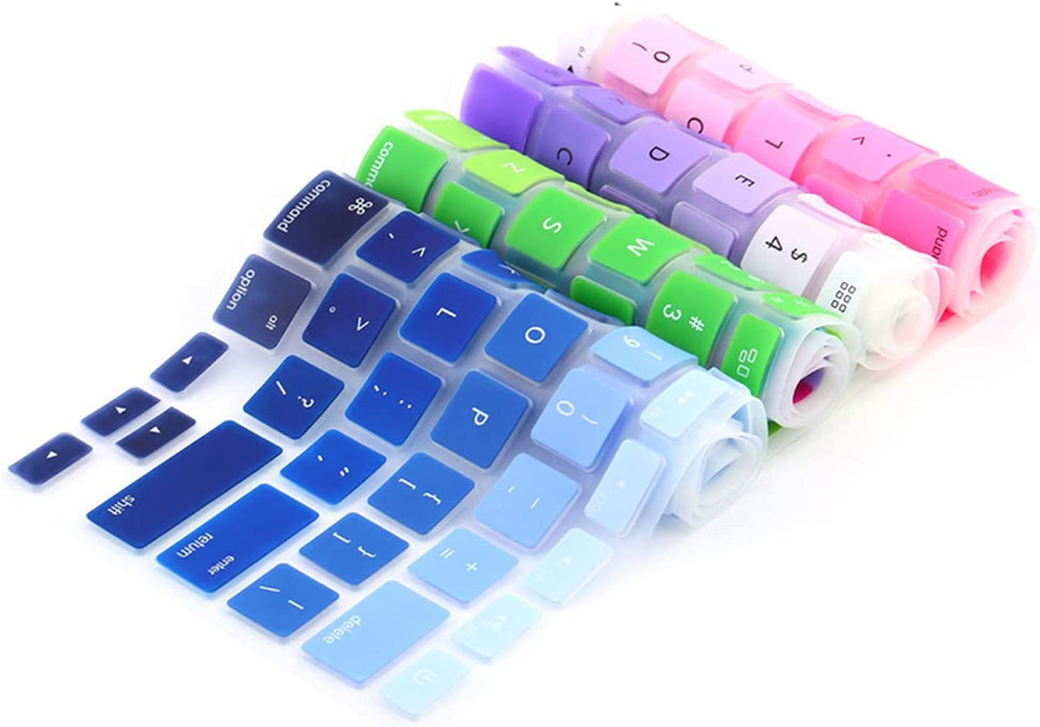 1pc Rainbow Silicone Keyboard Case Cover Skin Protector for MacBook Pro 13 15 Cover Protector-for pro13.3 15.4 17