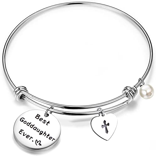 MAOFAED Goddaughter Gift You are More Loved Than You Know Goddaughter Bracelet Goddaughter Keychain
