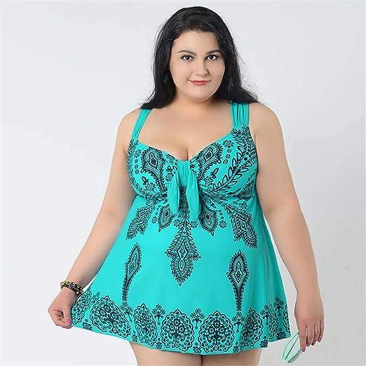 Miminuo Trajes De Baño Mujer,4XL-10XL Falda de Traje de baño de ...