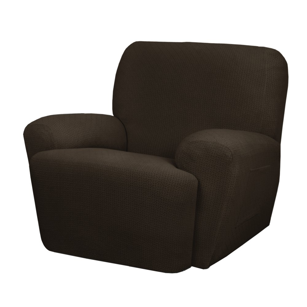 MAYTEX Torie Stretch 4Piece Recliner Furniture Cover/Slipcover, Chocolate by MAYTEX