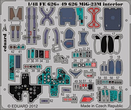 EDU49626 1 48 Eduard Farbe Photo Etch Detail Set for for for the 1 48 Trumpeter MiG-23M Flogger model kit by Eduard 2dc500
