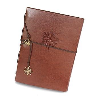 Album Photos Aventure Scrapbooking Adhesif Pages Noires Cuir Vintage Cadeau Noël Saint Valentin Anniversaire Mariage Cadeaux Original Femme Homme