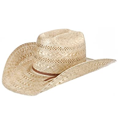0d5474b78501a NRS American Hat Company Mens Sisal Vented Open Crown 4 1/4 Brim Straw  Cowboy