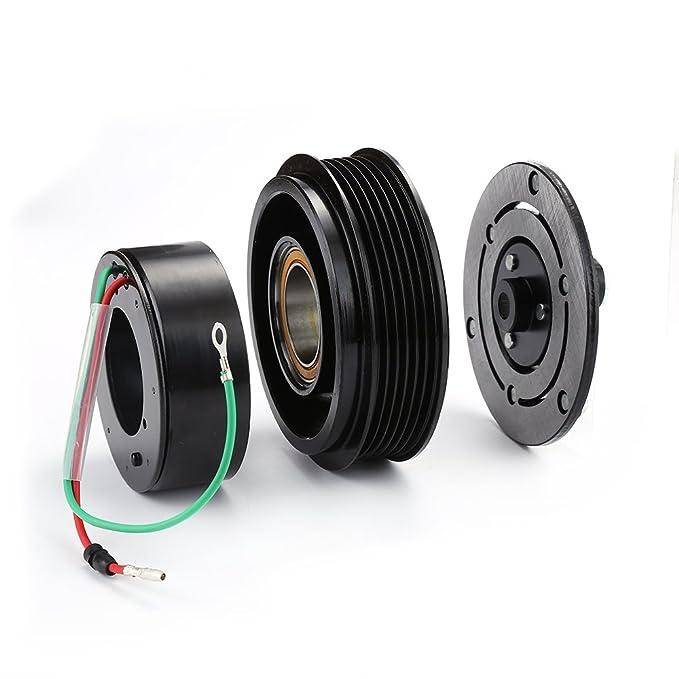 A/C compresor Polea del embrague rodamientos placa de bobina para 01 - 05 honda 1.7L cívica: Amazon.es: Coche y moto
