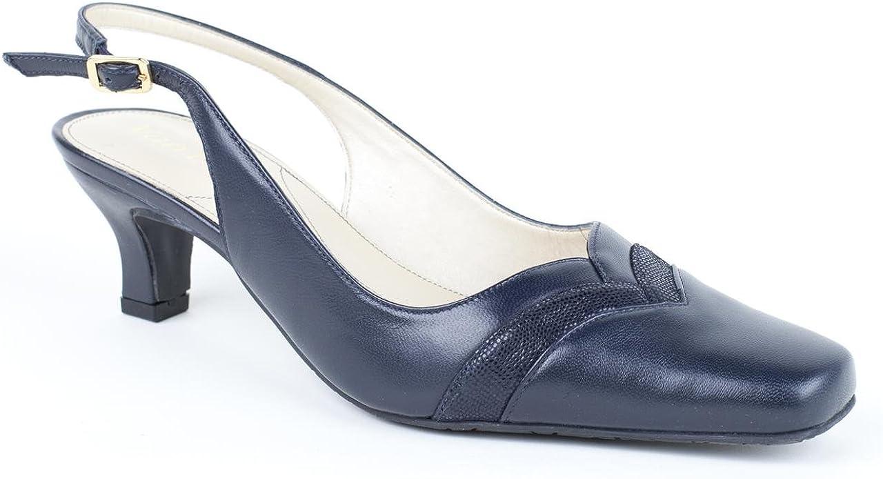 Van Dal Ladies Charleston Blue/Navy Slingbacks Size 6.5: Amazon.co ...