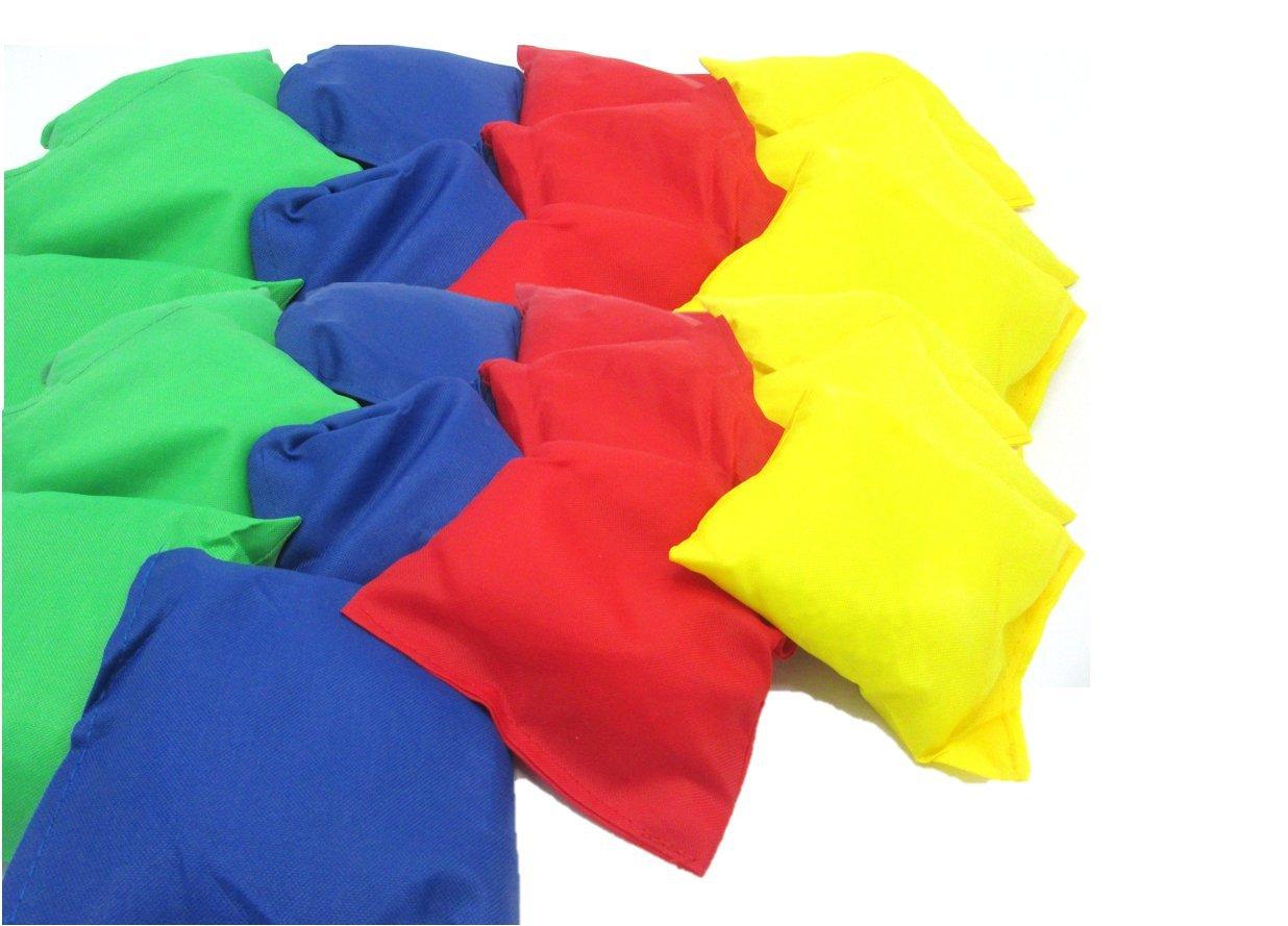 dazzling toys 6 Pack Bean Bags   5'' Assorted Nylon Reinforced Bean Bags - 6 Pcs Fun Sports Game Bean Bag   Carnival Toy   Bean Bag Toss Game